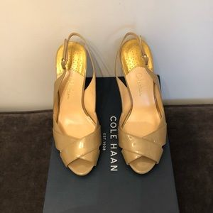 Cole Haan Tan Slingbacks